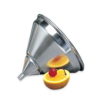 "American Metalcraft 524-FUNNEL 5.25"" Funnel w/ Built-In Air Vents & Satin Finish, Aluminum"
