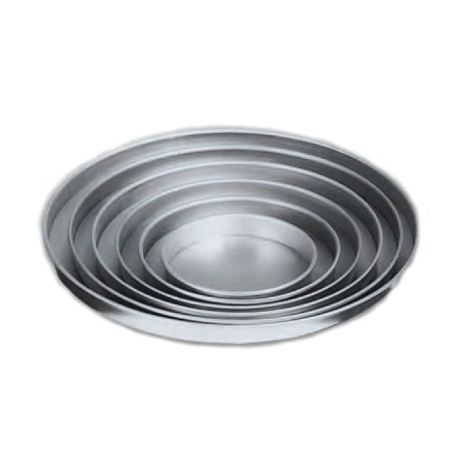 "American Metalcraft A4015 15"" Straight Sided Pizza Pan, Solid, Aluminum"
