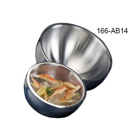 American Metalcraft AB14 Angled Bowl w/ 304-oz Capacity, Stainless