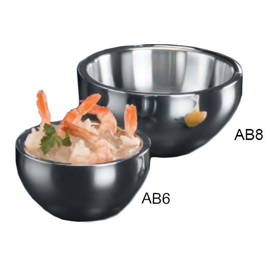 American Metalcraft AB8 Angled Bowl w/ 54-oz Capacity, Stainless