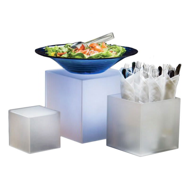 American Metalcraft AC579 3 Piece Riser Set, Acrylic, Frosted