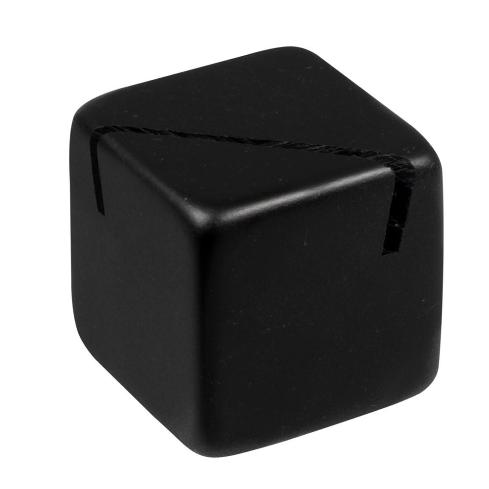 "American Metalcraft ACB118 1.12"" Tabletop Menu Card Holder - Acrylic, Black"