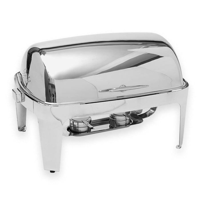 American Metalcraft ADAGIORT26 Full Size Chafer w/ Roll-top Lid & Chafing Fuel Heat