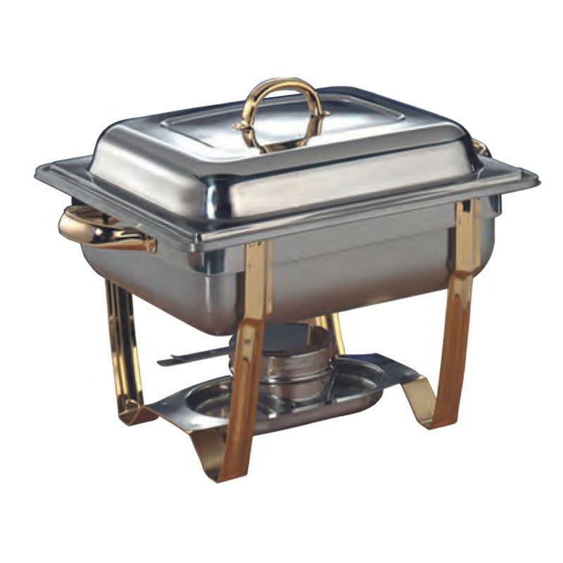 American Metalcraft ALLEGRT05 Rectangular Half Size Chafer w/ 5-qt Capacity, Gold/Stainless