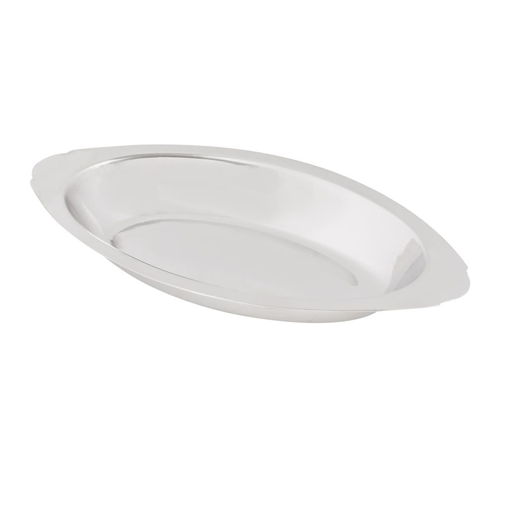 American Metalcraft AO120 Oval Au Gratin Dish w/ 12 oz Capacity, Stainless