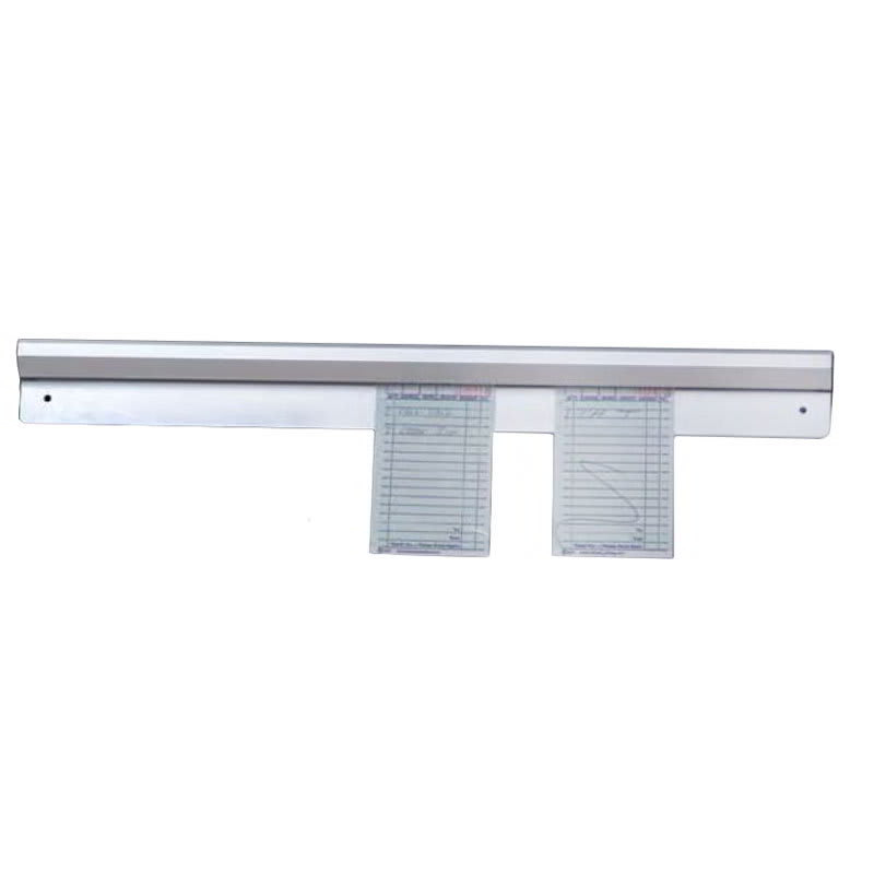 "American Metalcraft AOR48 Ticket Rack w/ Marble Inside, 48x2.25"", Aluminum"