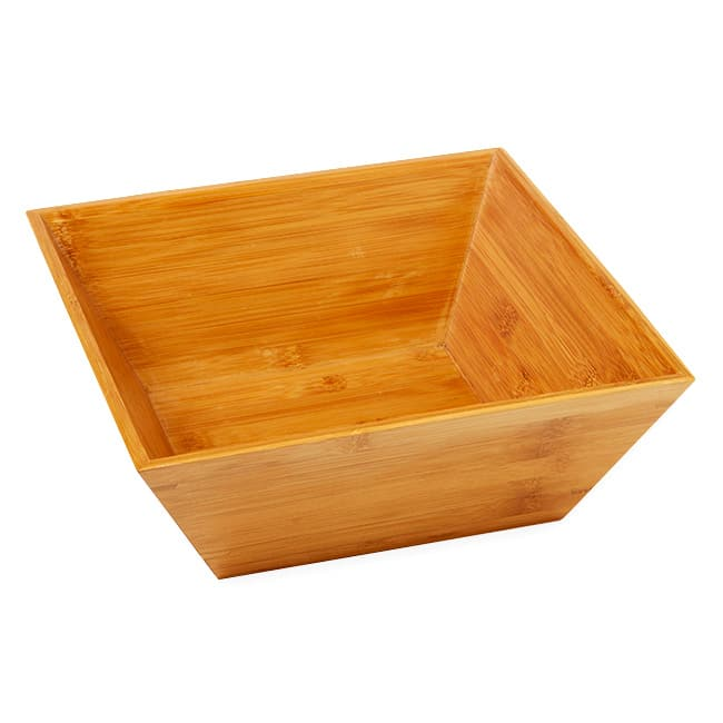 "American Metalcraft BAM124 12"" Square Bamboo Bowl"