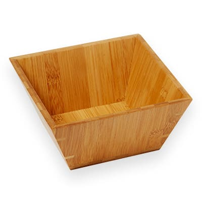 "American Metalcraft BAM73 7"" Square Bamboo Bowl"