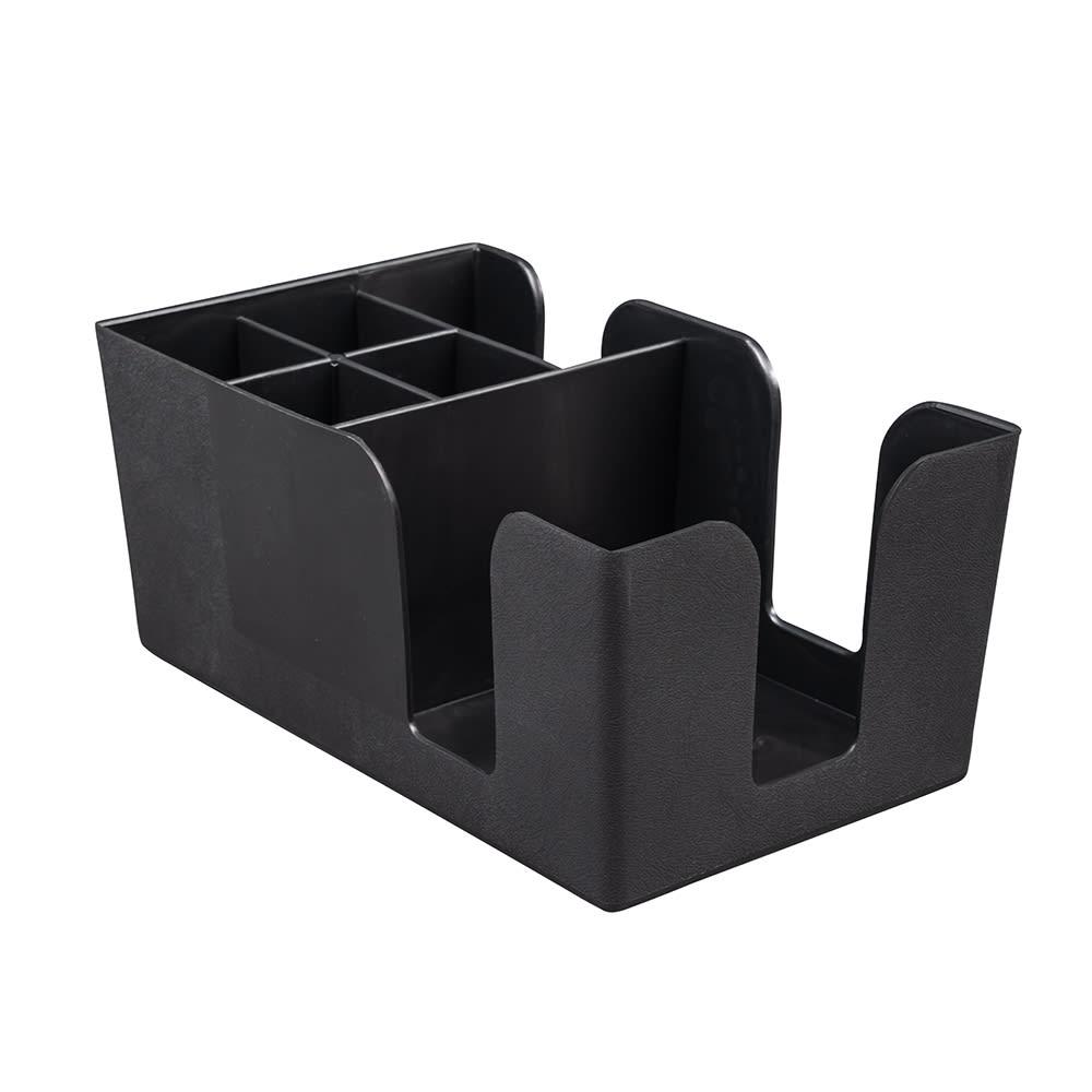 American Metalcraft BAR6 6-Compartment Bar Organizer, Black/Plastic