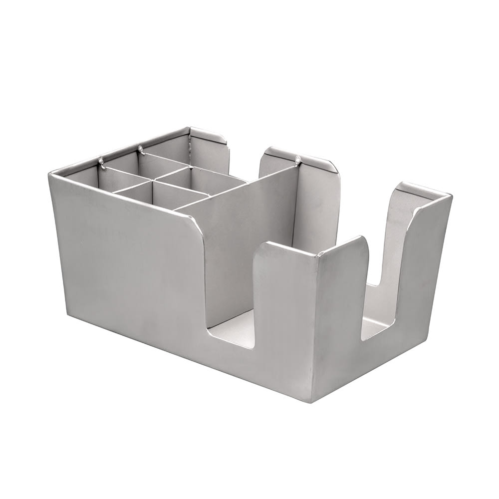 American Metalcraft BARS7 6 Compartment Bar Organizer, Satin/Stainless