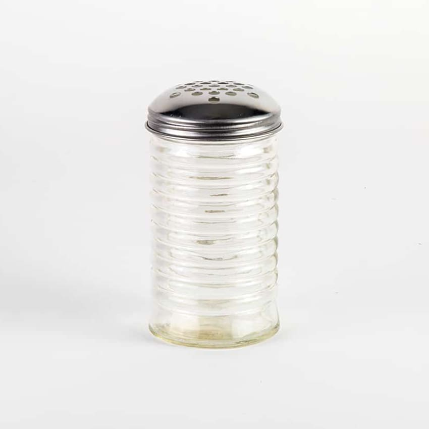 American Metalcraft BEE317 Spice Shaker w/ 12 oz Capacity & Top, Glass/Stainless