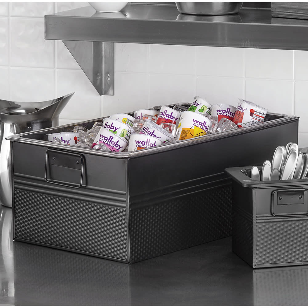 "American Metalcraft BEV820 20.5"" Full Size Beverage Tub, Black"