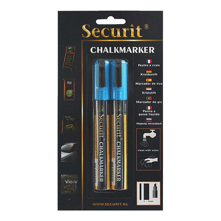 American Metalcraft BLSMA510BU Small Tip Chalk Marker, Blue