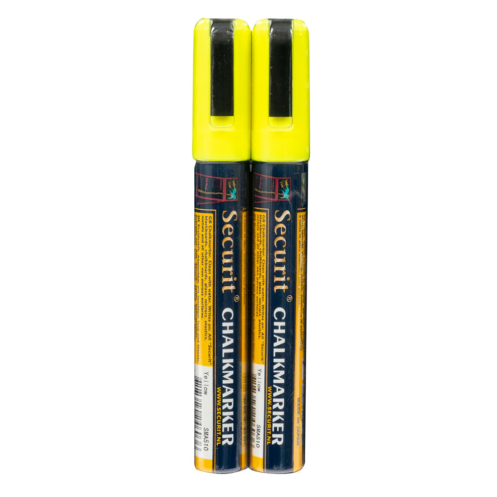 American Metalcraft BLSMA510YE Small Tip Chalk Marker, Yellow