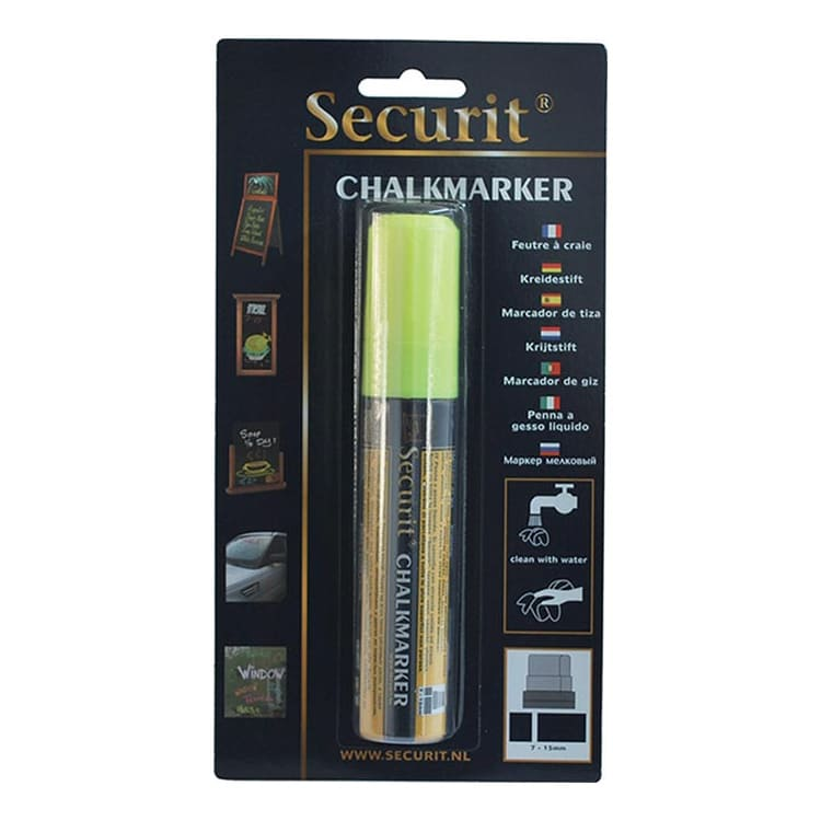 American Metalcraft BLSMA720YE Large Tip Chalk Marker, Yellow