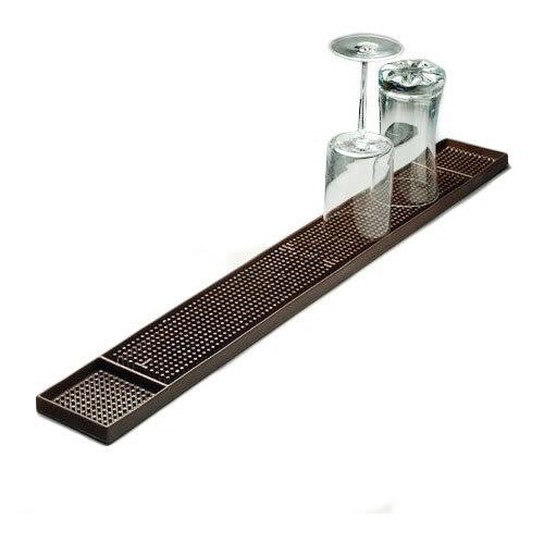 """American Metalcraft BM23 Bar Mat, 3.25x27"""", Rubber/Dark Brown"""