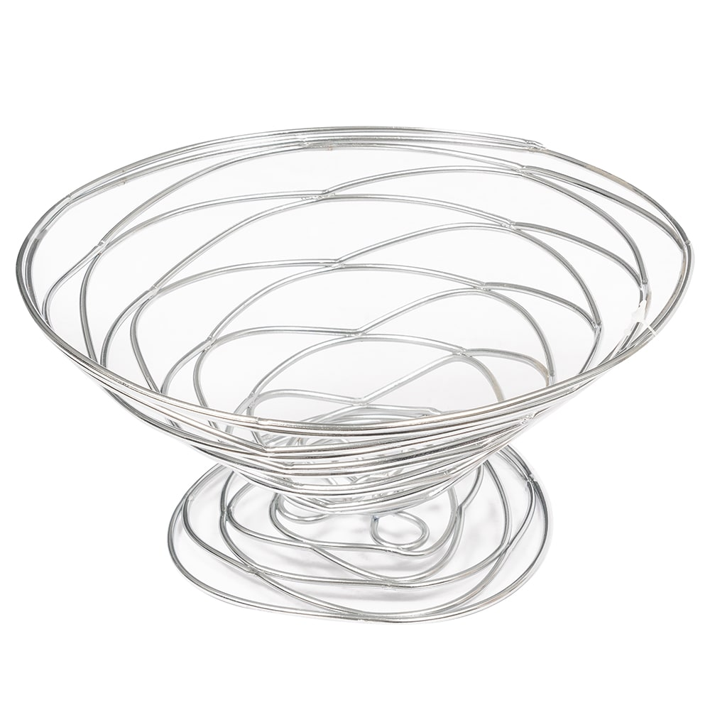 "American Metalcraft BNC9 9"" Conical Wire Basket, Chrome"