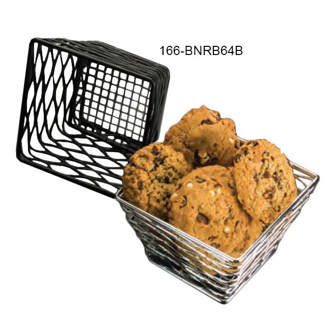"American Metalcraft BNRB64B Riser/Basket, 6x4"", Black"