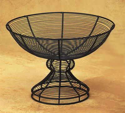 American Metalcraft BPB139 13-in Wire Pedestal Basket, Black