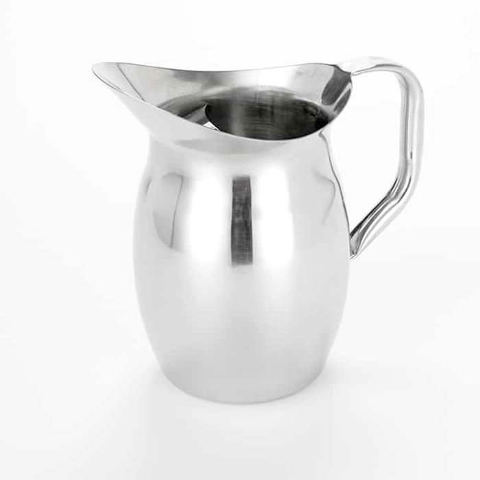 American Metalcraft BPG101 Bell Pitcher w/ 100-oz Capacity & Ice Guard, Mirror/Stainless