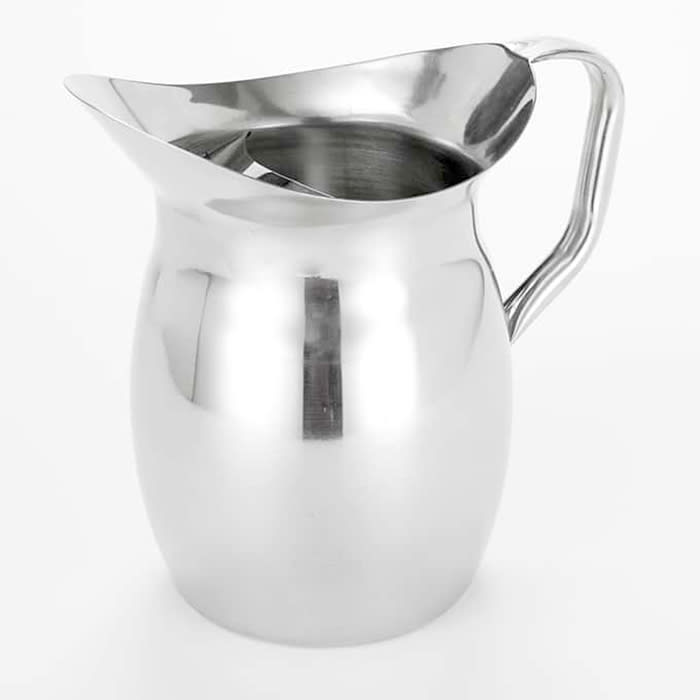 American Metalcraft BPG67 Bell Pitcher w/ 68-oz Capacity & Ice Guard, Mirror/Stainless