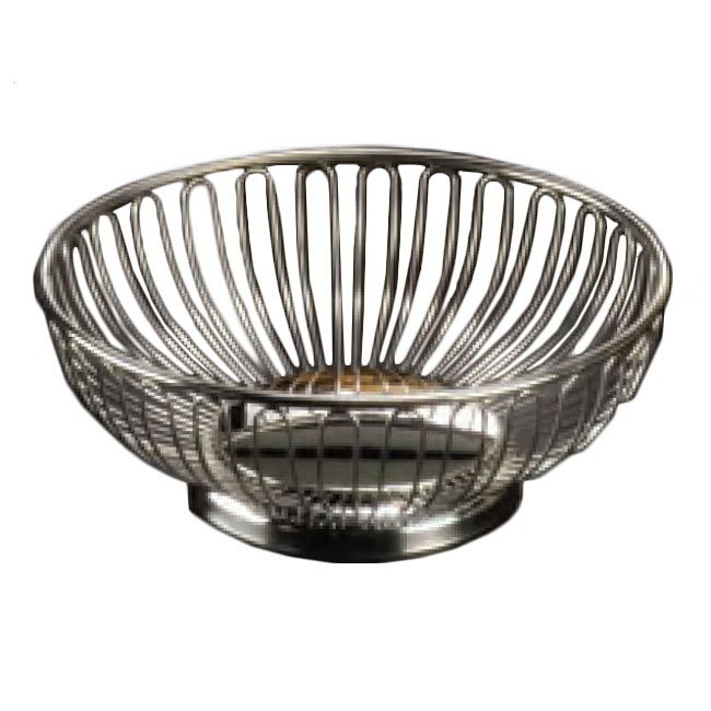 "American Metalcraft BSS7 6.62"" Round Basket, Stainless"