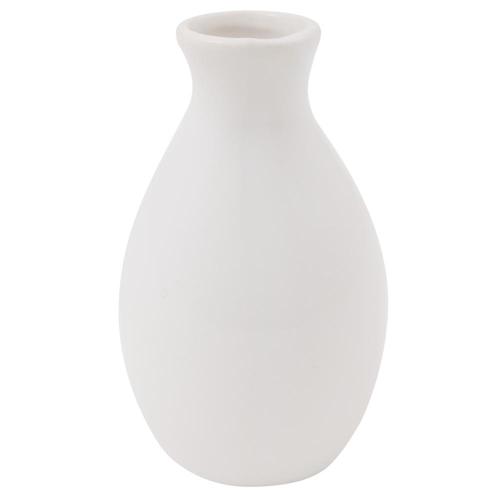 American Metalcraft Bvjgg4 Ceramic Bud Vase White
