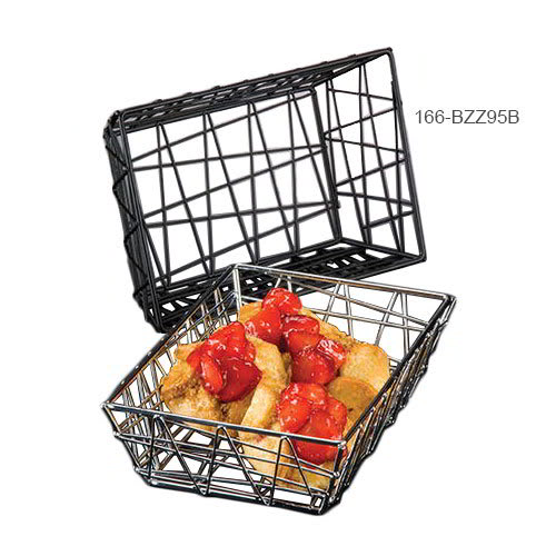 American Metalcraft BZZ95B Rectangular Wire Zorro Baskets