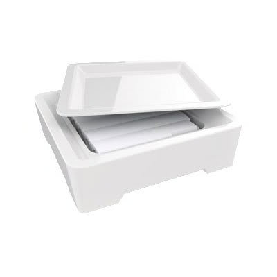 """American Metalcraft C302S Buffetware Set w/ Plate, Tray & Cold Cell, 12x4"""""""
