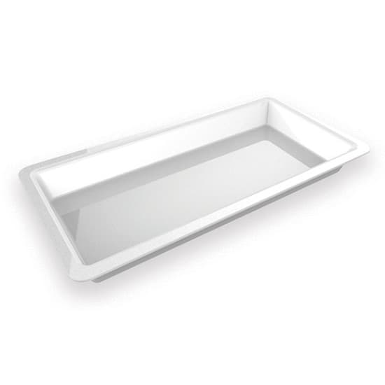 "American Metalcraft C605TP Rectangular Plate for C605T, 24x12x2"", Porcelain"