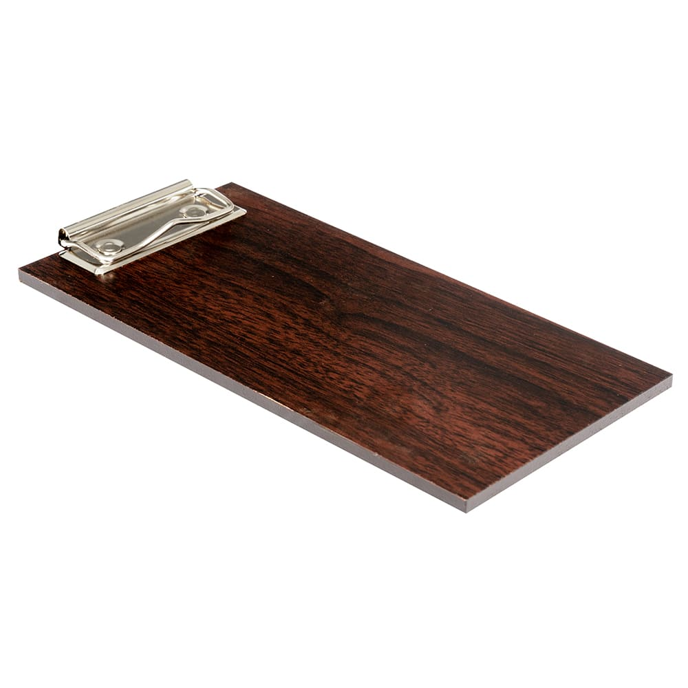 "American Metalcraft CB8 Clipboard Menu Holder - 4"" x 8"", Wood, Espresso"