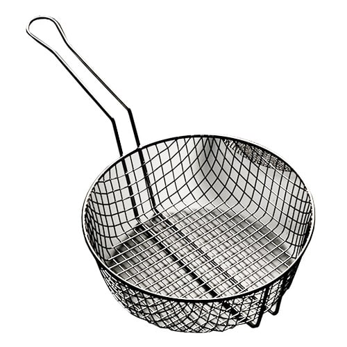 "American Metalcraft CBC12 12"" Culinary Basket w/ Handle, Coarse Mesh, Steel"