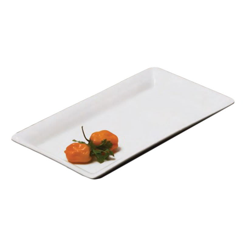 "American Metalcraft CER19 Rectangular Platter, 14x7.5"", Ceramic/White"