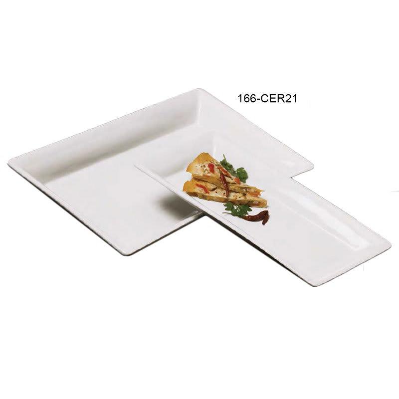 "American Metalcraft CER21 Rectangular Platter, 21x12.75"", Ceramic/White"
