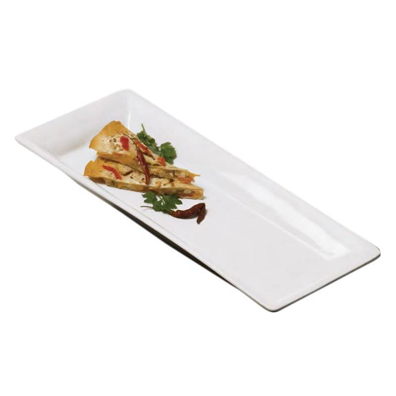 "American Metalcraft CER23 Rectangular Platter, 18.25x9.25"", Ceramic/White"