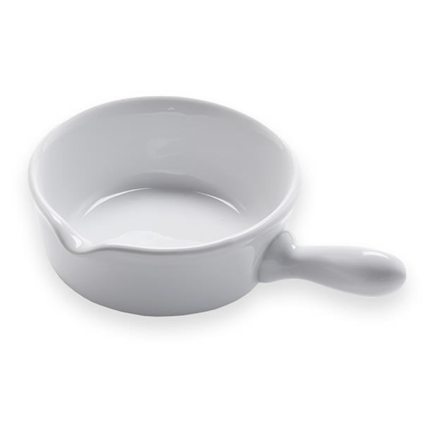 American Metalcraft CFP4 4-oz Mini Fry Pan/Sauce Cup - White Ceramic