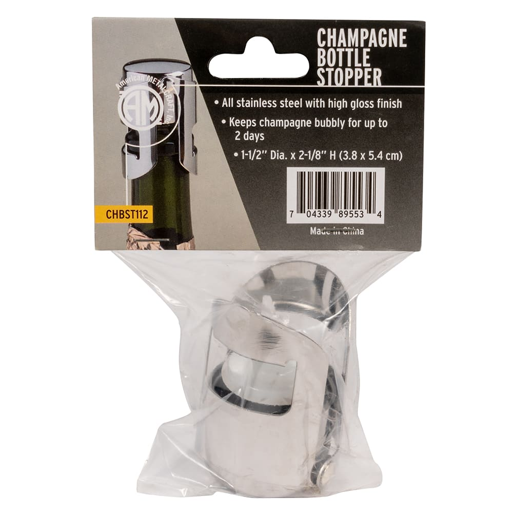American Metalcraft CHBST112 Champagne Bottle Popper Stopper, Stainless