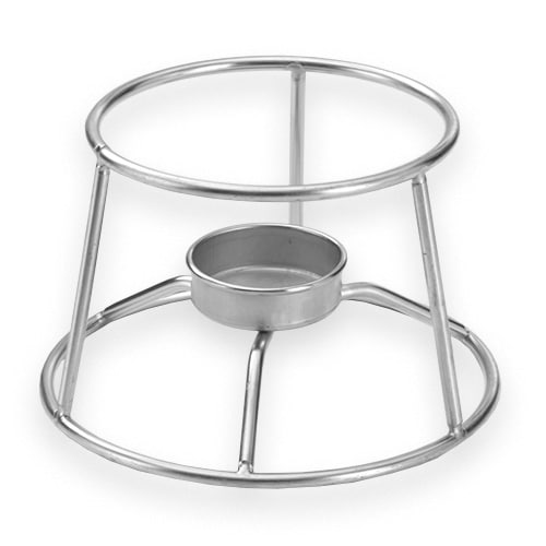 "American Metalcraft CIFDR 3.75"" Round Mini Fondue Pot Stand, Stainless"