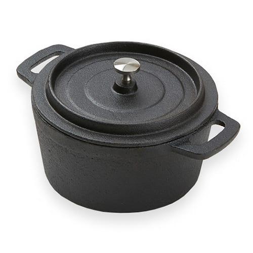 "American Metalcraft CIPR5526 5.5"" Round Baking Dish w/ 18.25-oz Capacity, Cast Iron"
