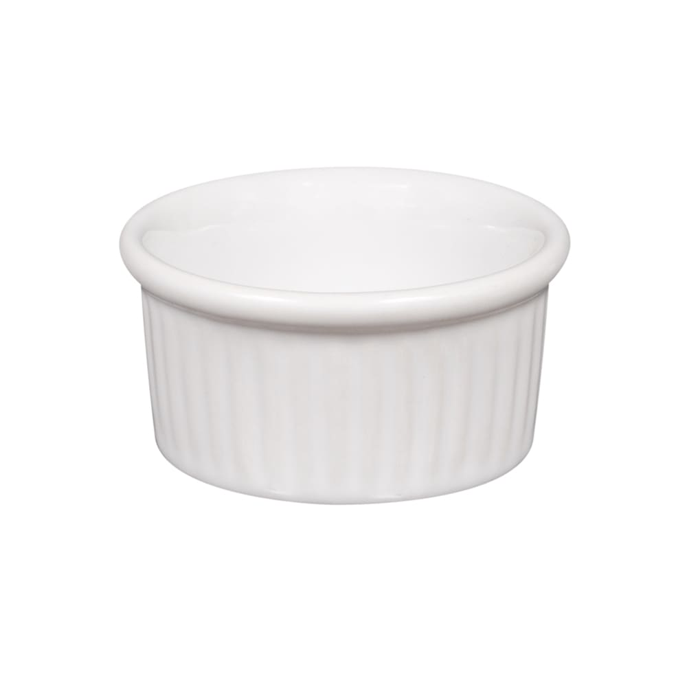 American Metalcraft CRMK1 Fluted Ramekin w/ 1 oz Capacity, Ceramic/White
