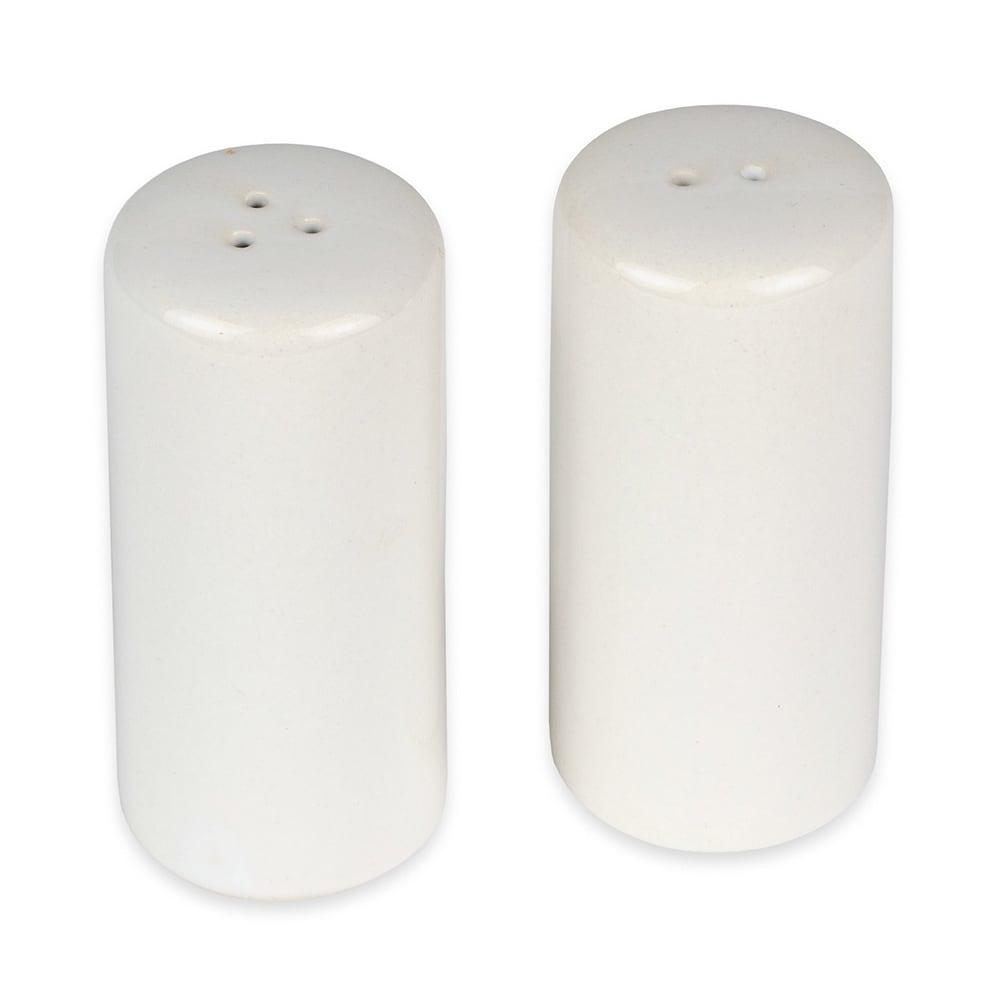 Set of 2 American Metalcraft CSPR1 Round Ceramic Salt /& Pepper Shakers