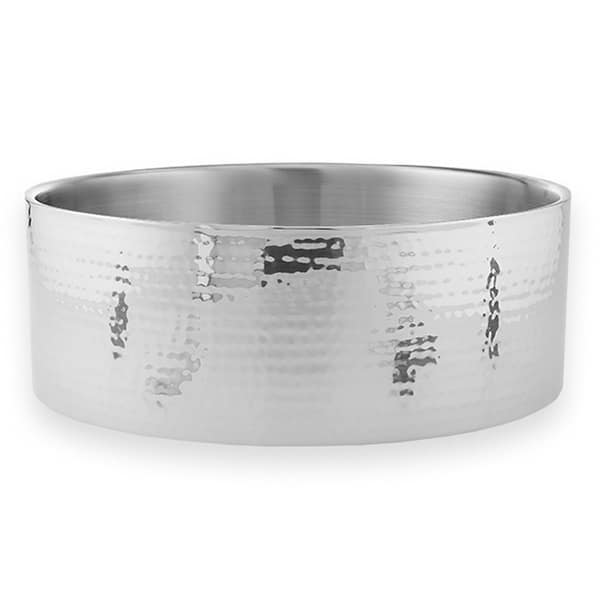 American Metalcraft DWBH14 338-oz Round Bowl - Hammered, Stainless