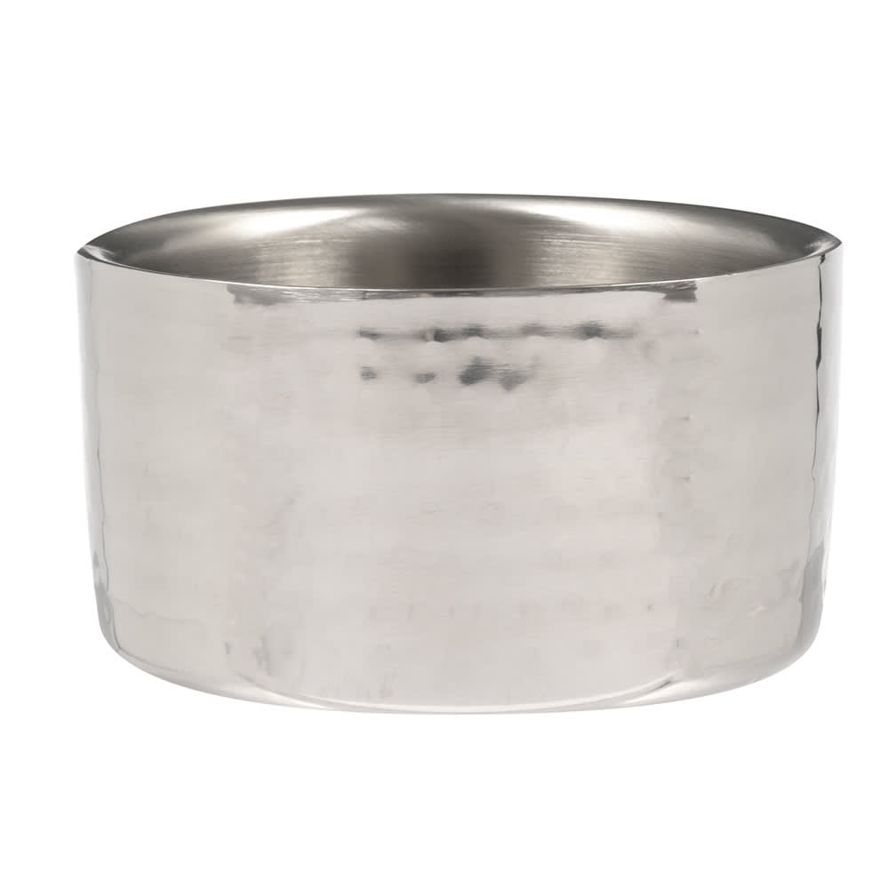 American Metalcraft DWBH4 17-oz Round Bowl - Hammered, Stainless
