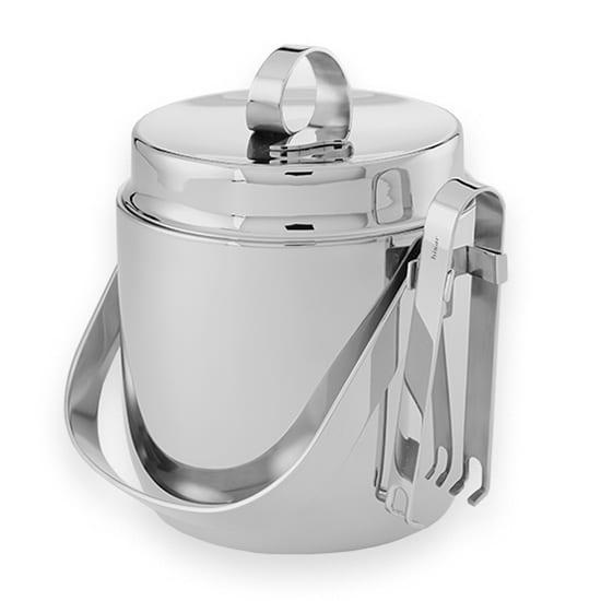 American Metalcraft DWIB40 Round Ice Bucket w/ 40 oz Capacity & Ice Tong, Mirror, Stainless