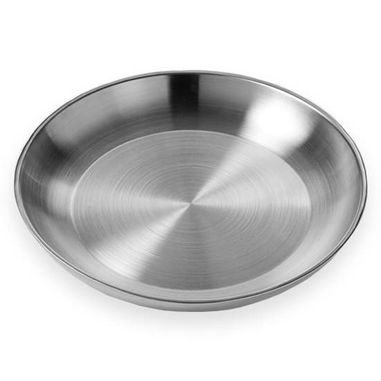 """American Metalcraft DWSEA14 14"""" Round Seafood Tray - Stainless"""