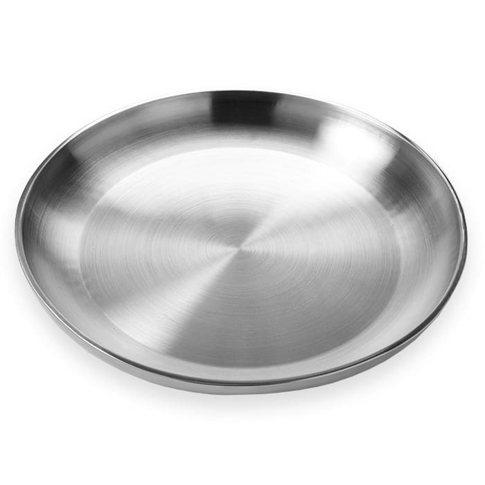 """American Metalcraft DWSEA18 17-5/8"""" Round Seafood Tray - Stainless"""
