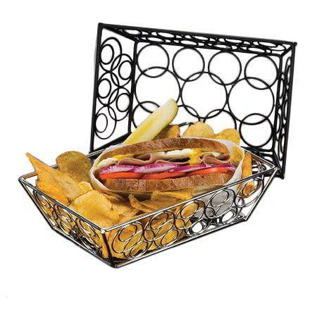 American Metalcraft EBB59B Rectangular Basket, Black