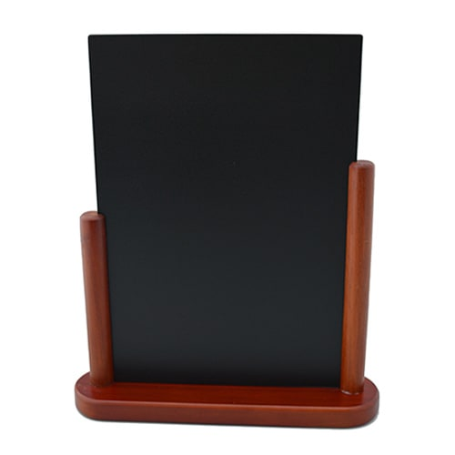 "American Metalcraft ELEMSM Table Top Board w/ Removable Blackboard, 4x6"", Mahogany"