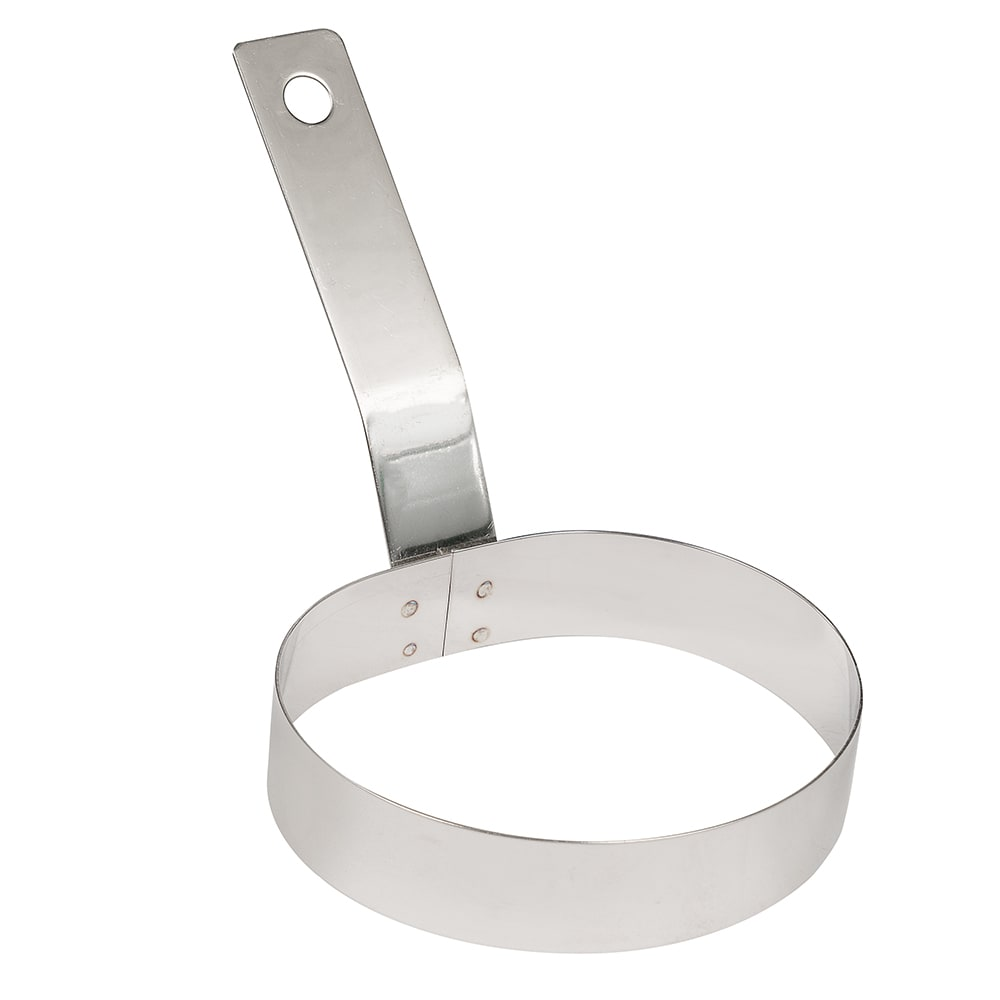 "American Metalcraft ER387 4"" Egg Ring - Handle, Stainless"