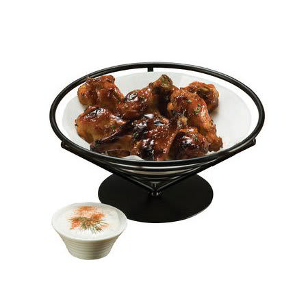 """American Metalcraft FBB9 9"""" Conical Bread Basket, Wrought Iron/Black"""